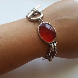 Red ❤️Crystal/ Silver Bracelet